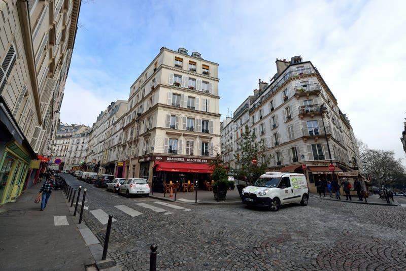 Opinión de la calle de París foto de archivo