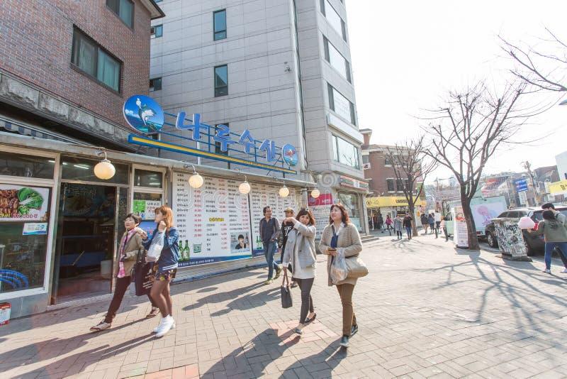 Opinión de la calle de Seul foto de archivo libre de regalías