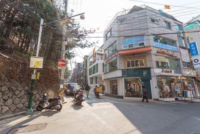 Opinión de la calle de Seul imagen de archivo libre de regalías