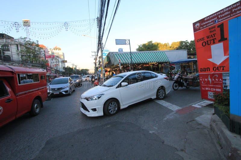 Opinión de la calle de Tailandia Chiang Mai fotografía de archivo