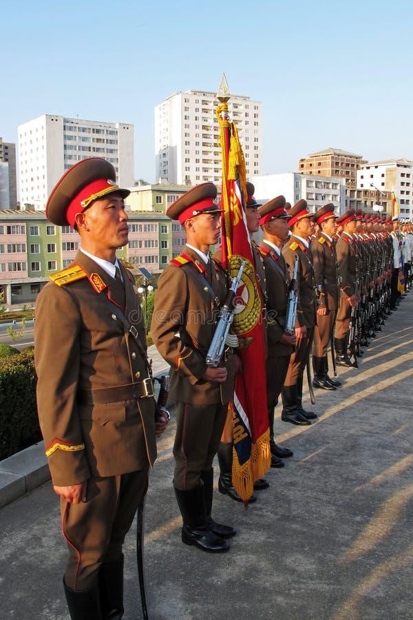 Opinión de la calle en Corea del Norte  imagenes de archivo