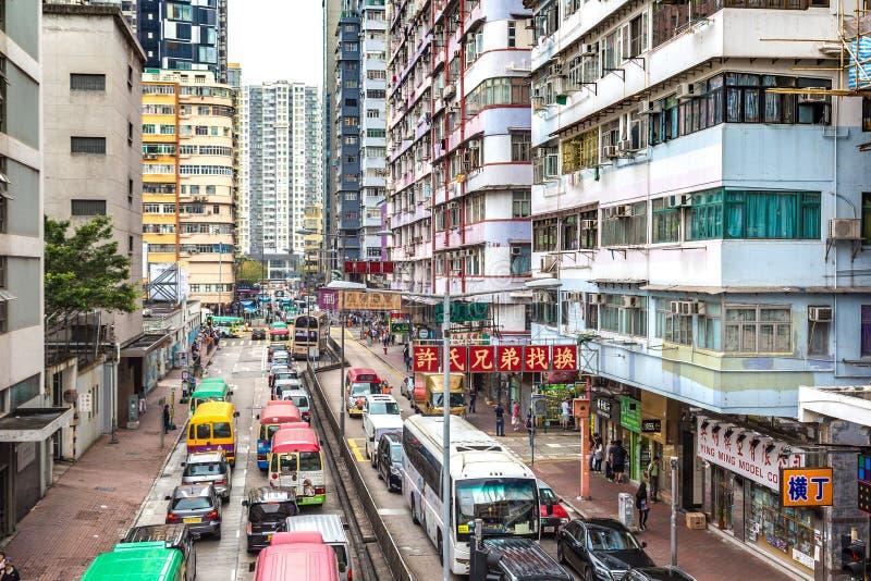 Opinión de la calle en Hong Kong foto de archivo libre de regalías
