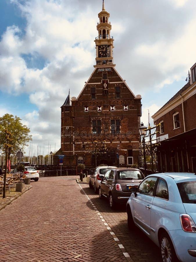 Opinión de la calle en Hoorn, Países Bajos fotos de archivo