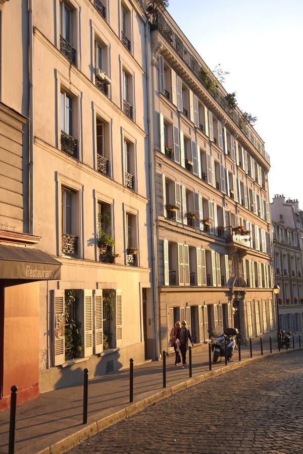 Opinión de la calle en París imagen de archivo