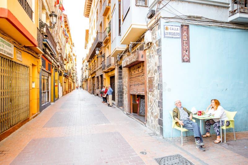 Opinión de la calle en Zaragoza imagenes de archivo