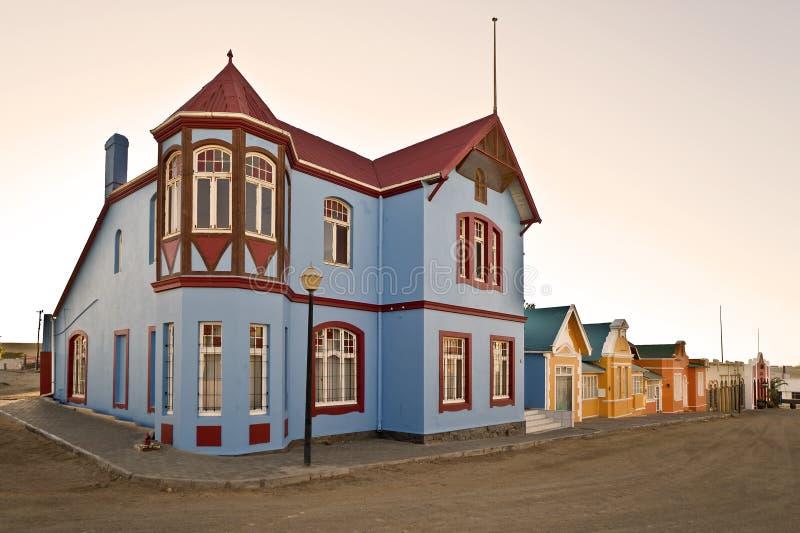 Opinión de la calle, Lüderitz, Namibia, África fotos de archivo libres de regalías