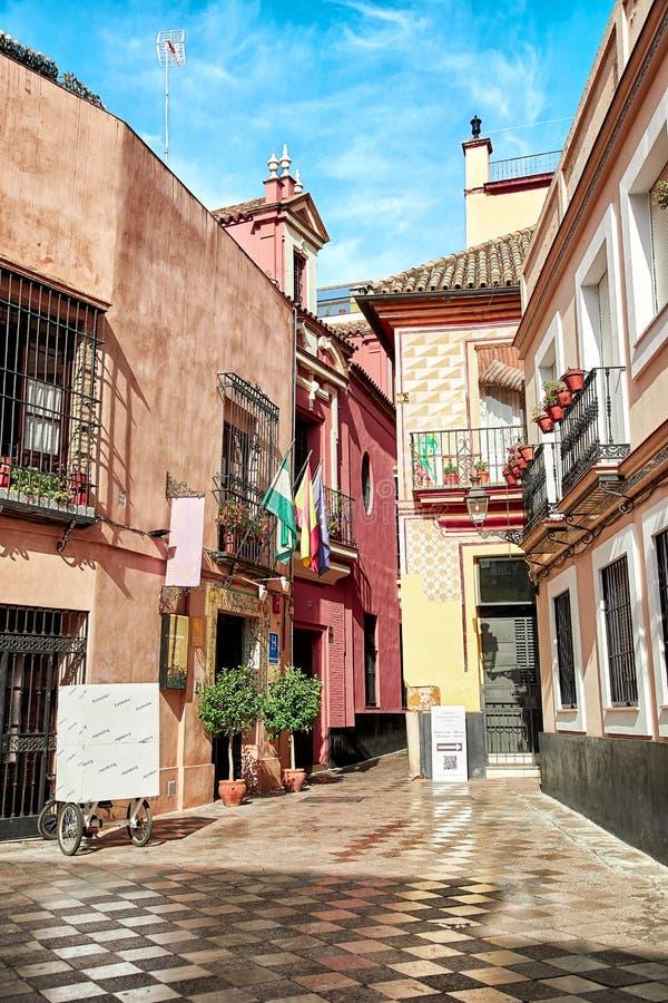 Opinión de la calle de Sevilla fotos de archivo libres de regalías