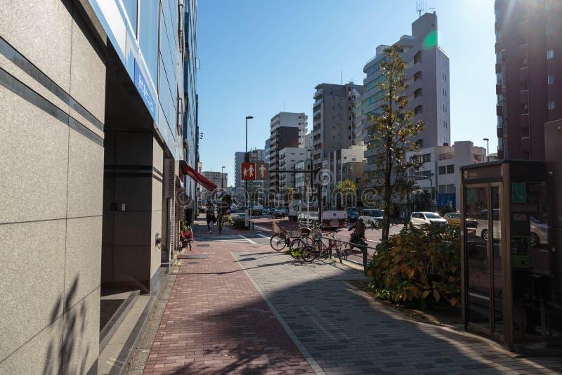 Opinión de la calle de Tokio fotos de archivo libres de regalías