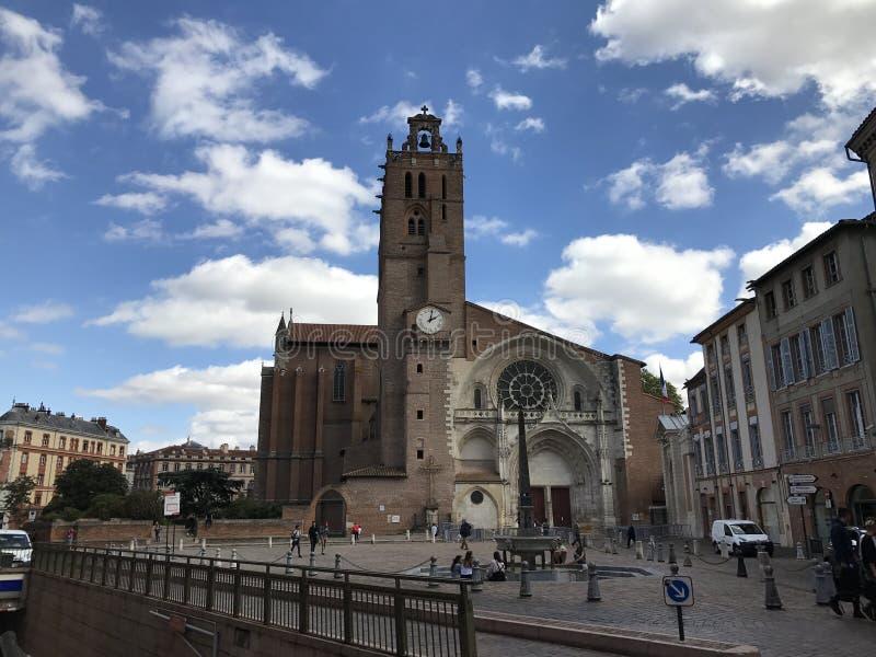 Opinión de la calle de Toulouse, Francia fotos de archivo