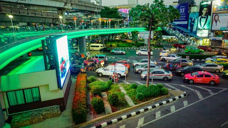 Opinión de la ciudad de Bangkok foto de archivo libre de regalías