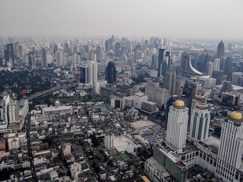 Opinión de la ciudad de Bangkok, Asia del top imagen de archivo