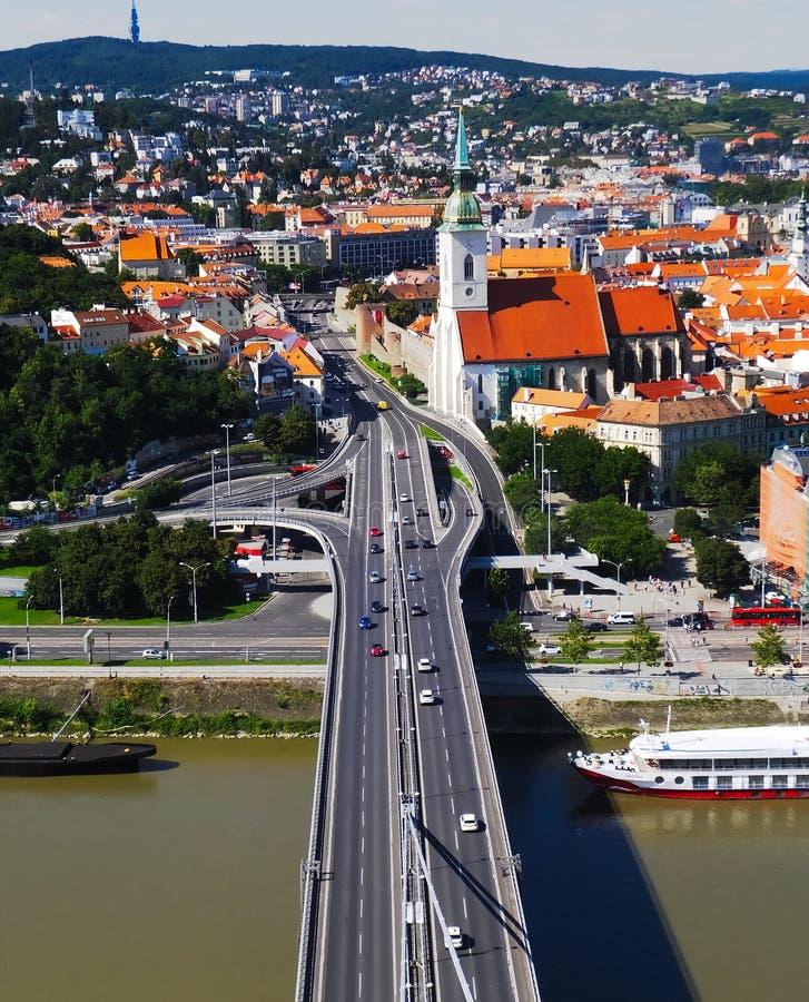 Opinión de la ciudad de Bratislava fotografía de archivo libre de regalías