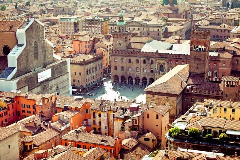 Opinión de la ciudad de Bolonia, Italia fotografía de archivo libre de regalías