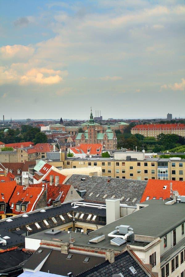 Opinión de la ciudad de Copenhague imagen de archivo libre de regalías