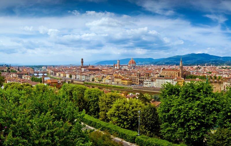 Opinión de la ciudad de Firenze foto de archivo