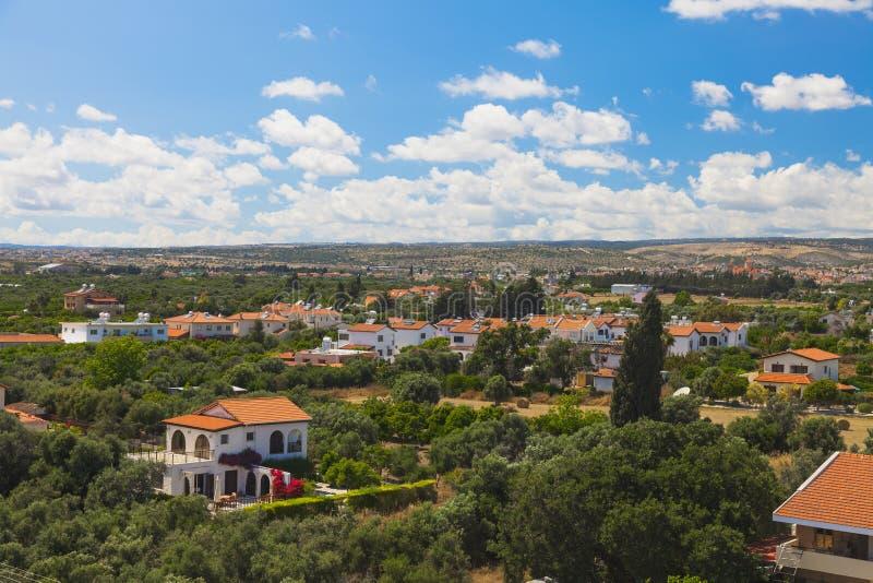 Opinión de la ciudad de Limassol imagen de archivo libre de regalías