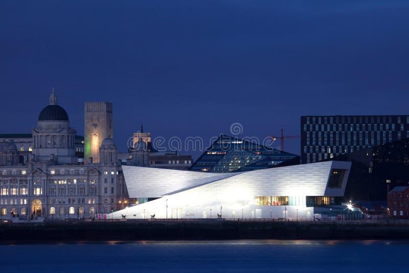 Opinión de la ciudad de Liverpool fotos de archivo libres de regalías