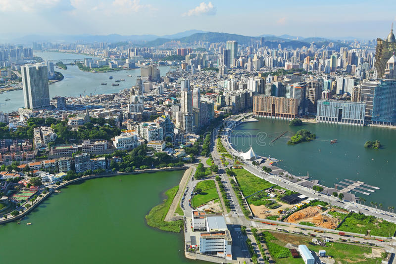 Opinión de la ciudad de Macao foto de archivo libre de regalías