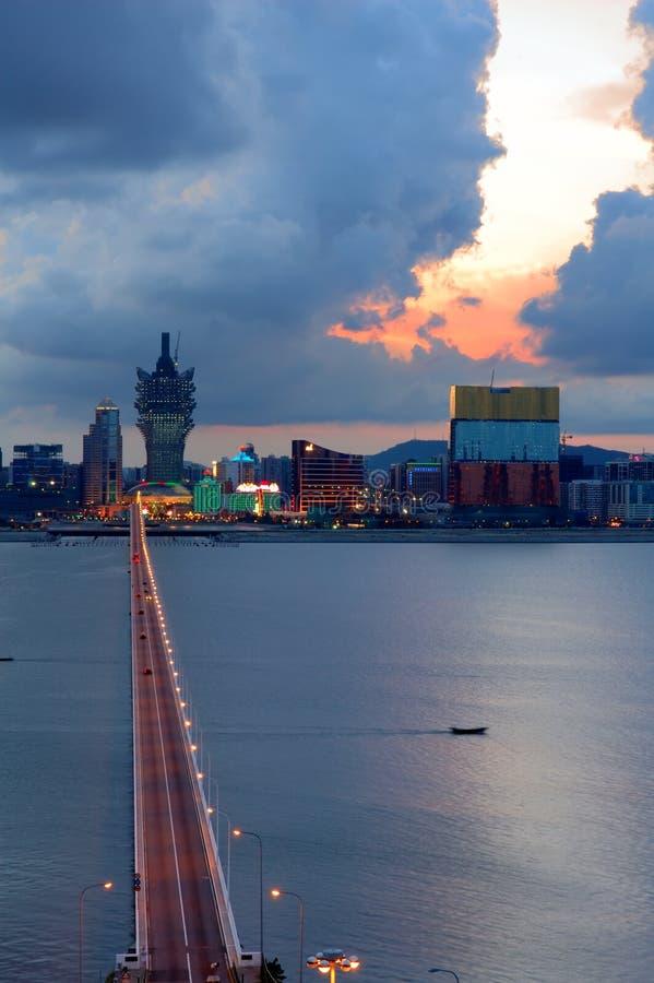 Opinión de la ciudad de Macau imagenes de archivo