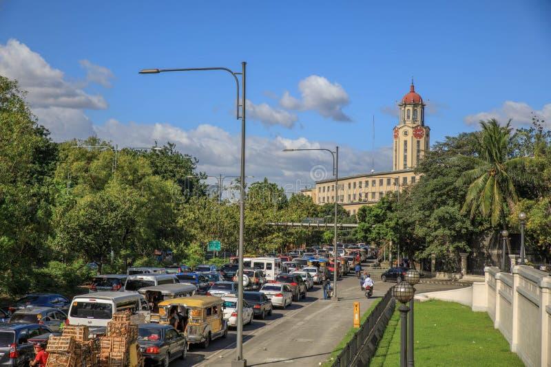 Opinión de la ciudad de Manila fotografía de archivo