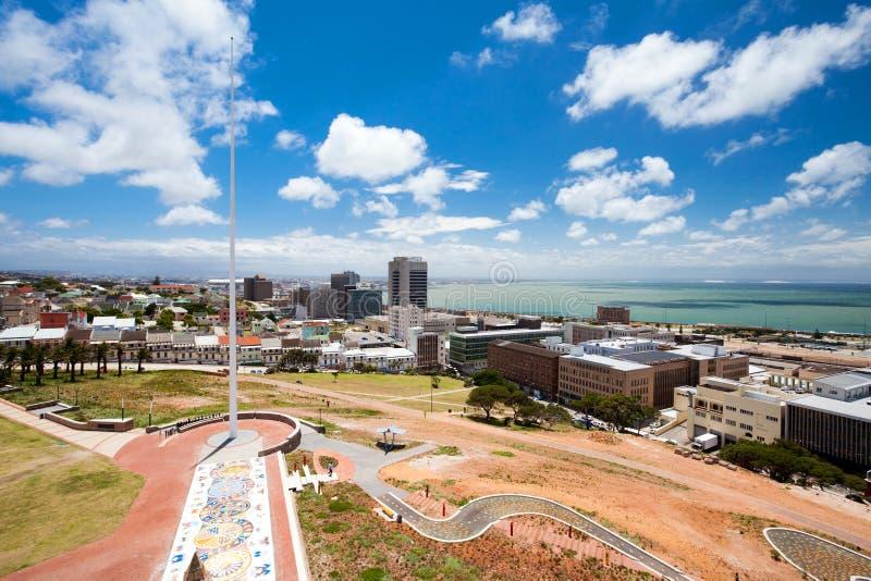 Opinión de la ciudad de Port Elizabeth fotografía de archivo libre de regalías