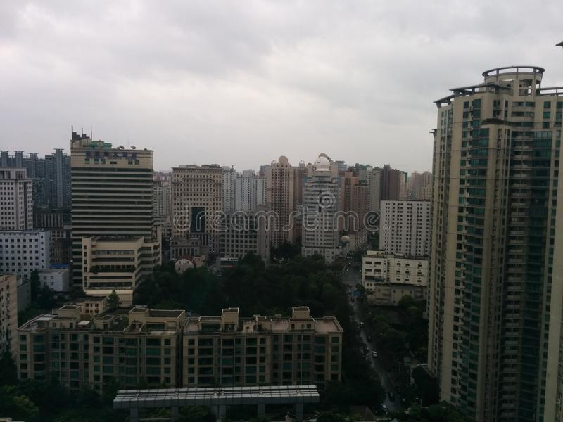 Opinión de la ciudad de Shangai imagen de archivo