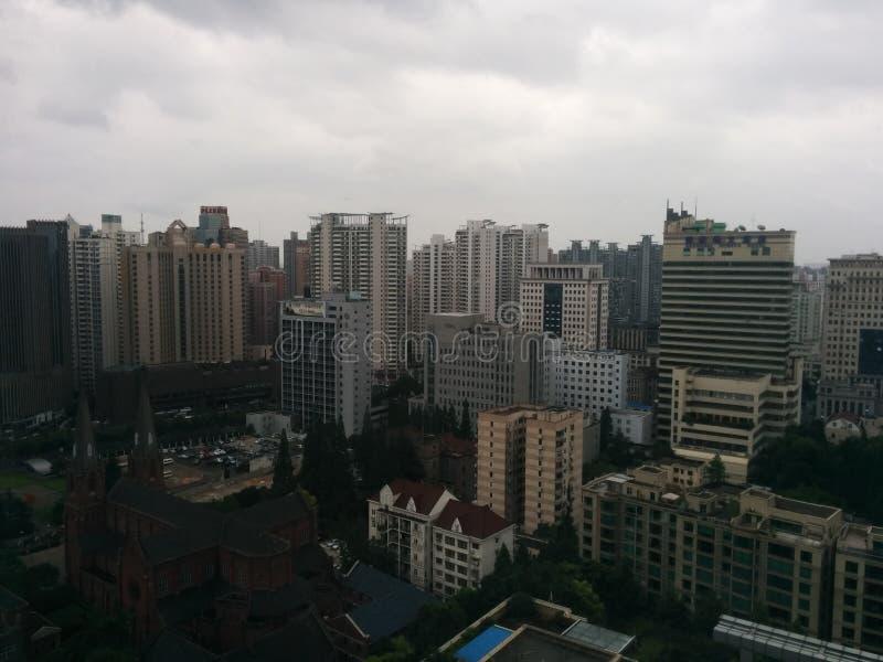 Opinión de la ciudad de Shangai fotos de archivo