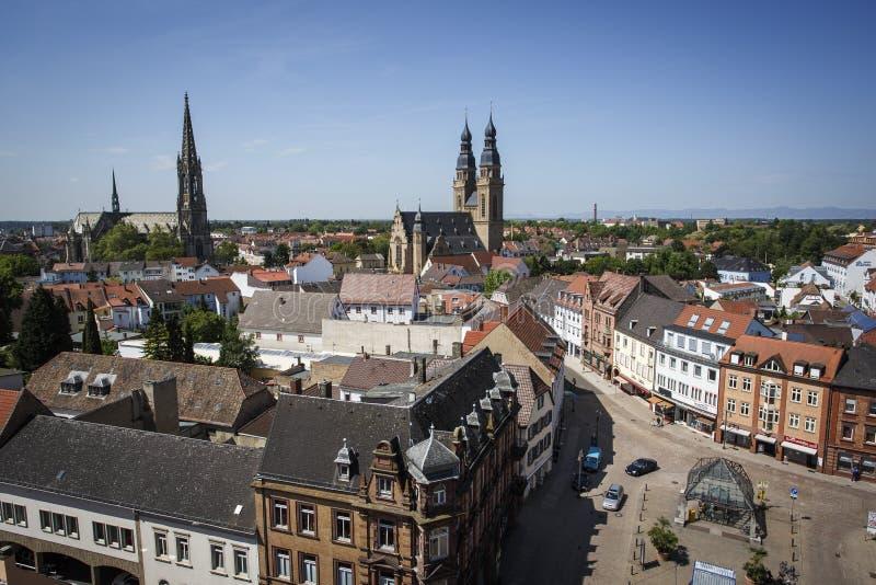 Opinión de la ciudad de Speyer fotografía de archivo libre de regalías