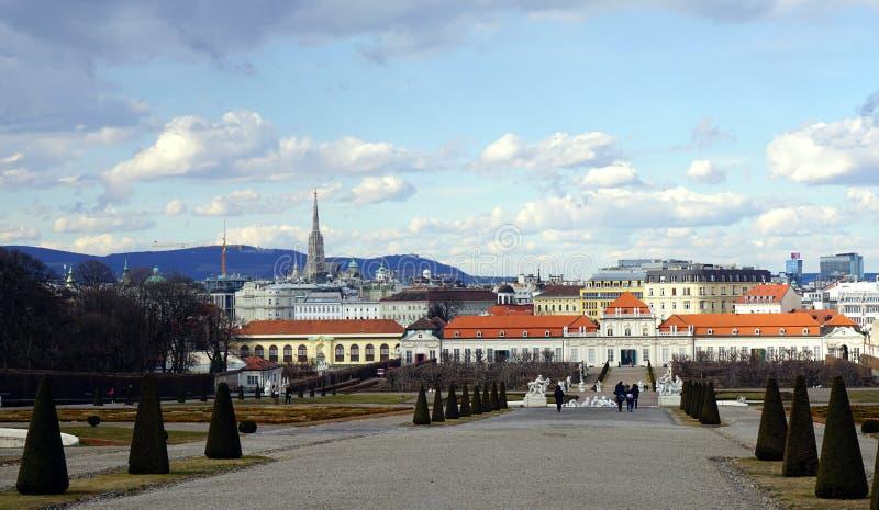 Opinión de la ciudad de Viena fotografía de archivo libre de regalías