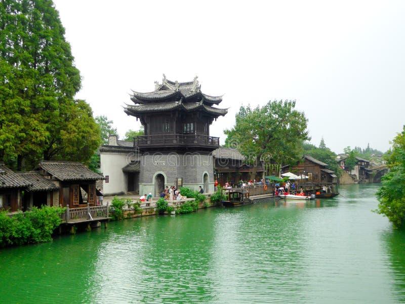 Opinión de la ciudad de Wuzhen foto de archivo libre de regalías