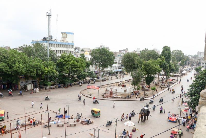 Opinión de la ciudad del fuerte de Bhadra, Ahmadabad - la India imagen de archivo