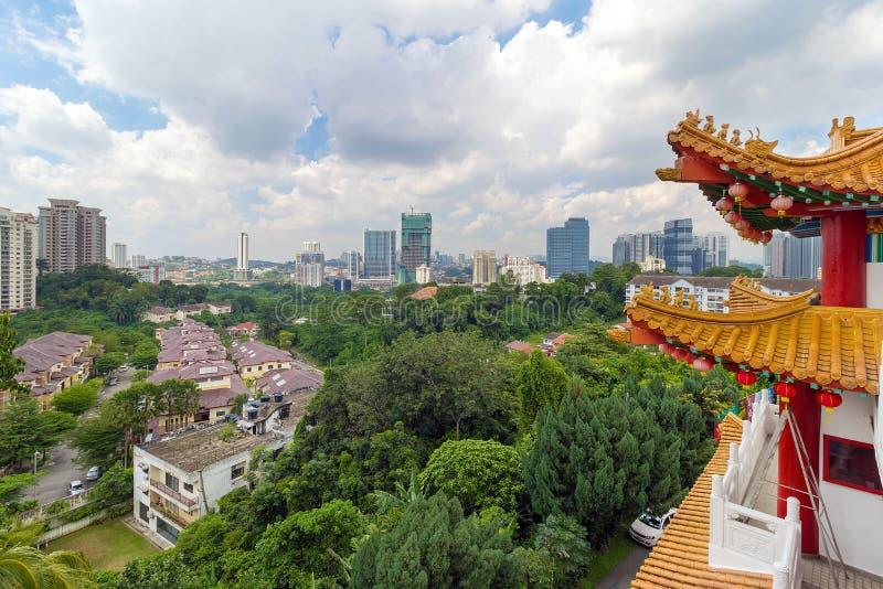 Opinión de la ciudad del templo de Thean Hou fotografía de archivo libre de regalías