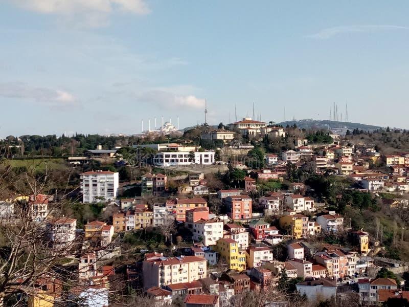 Opinión de la ciudad en Uscudar, Estambul foto de archivo
