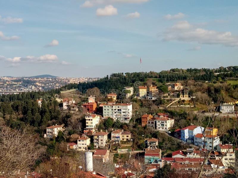 Opinión de la ciudad en Uscudar, Estambul imagen de archivo libre de regalías