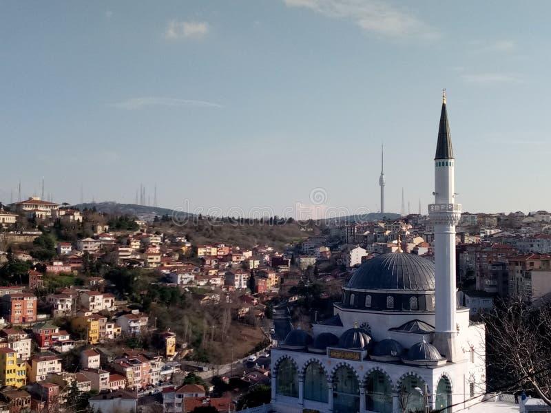 Opinión de la ciudad en Uscudar, Estambul imágenes de archivo libres de regalías