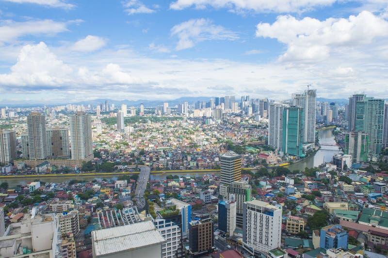 Opinión de la ciudad de Manila fotos de archivo libres de regalías
