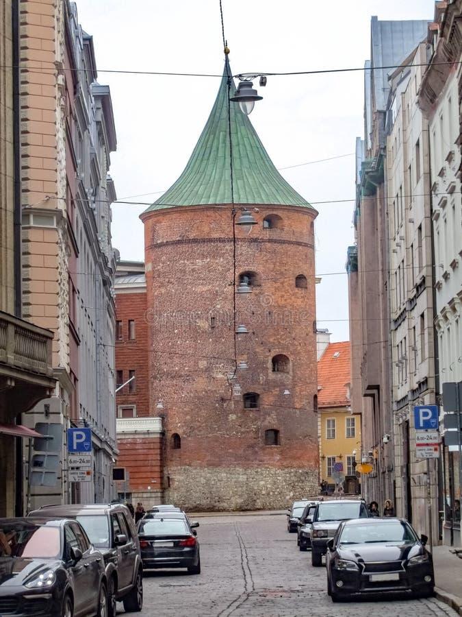 Opinión de la ciudad de Riga fotografía de archivo libre de regalías