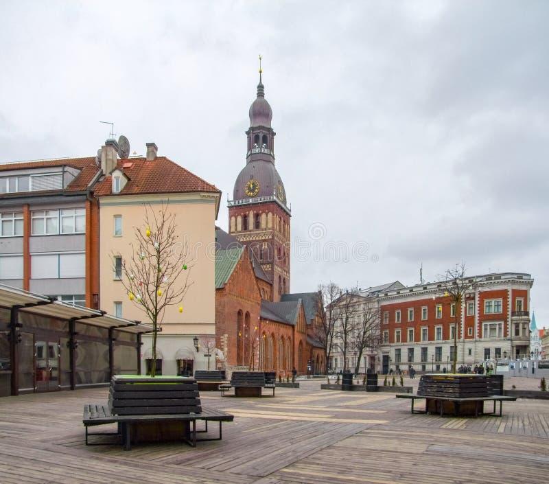 Opinión de la ciudad de Riga fotos de archivo