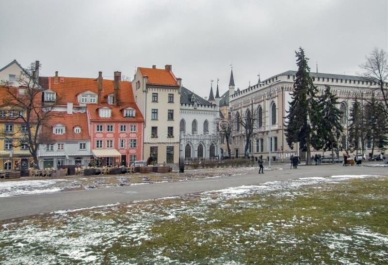 Opinión de la ciudad de Riga fotos de archivo libres de regalías