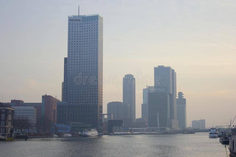 Opinión de la ciudad de Rotterdam, Netherland fotos de archivo libres de regalías