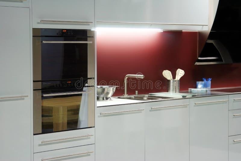 Opinión de la cocina imagen de archivo