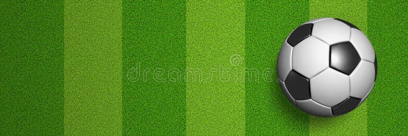 Opinión de la corte de Soccerball en endecha plana libre illustration