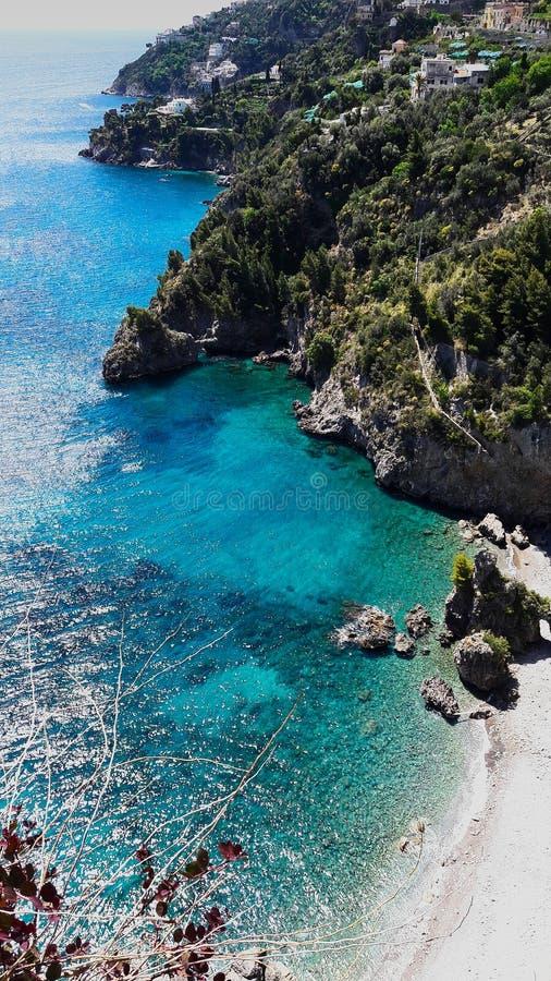 Opinión de la costa de Amalfitan imagen de archivo libre de regalías