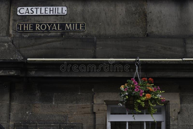 Opinión de la esquina de Edimburgo foto de archivo libre de regalías