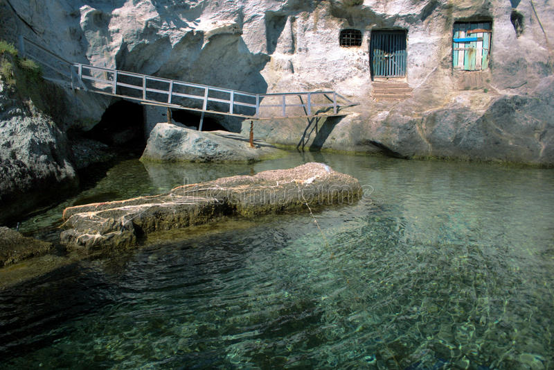 Opinión de la isla de Ponza imágenes de archivo libres de regalías
