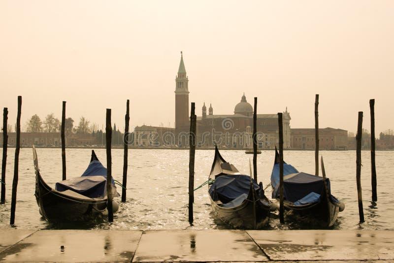 Opinión de la mañana de Venecia foto de archivo