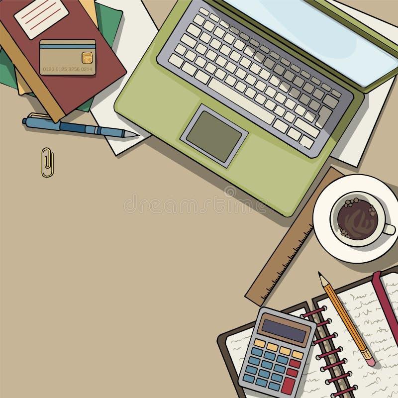 Opinión de la mesa de la oficina libre illustration