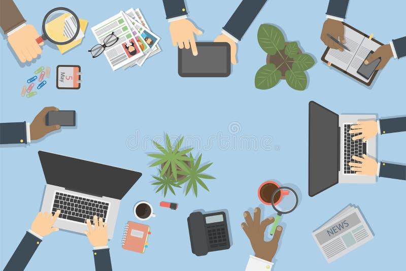 Opinión de la mesa del negocio stock de ilustración