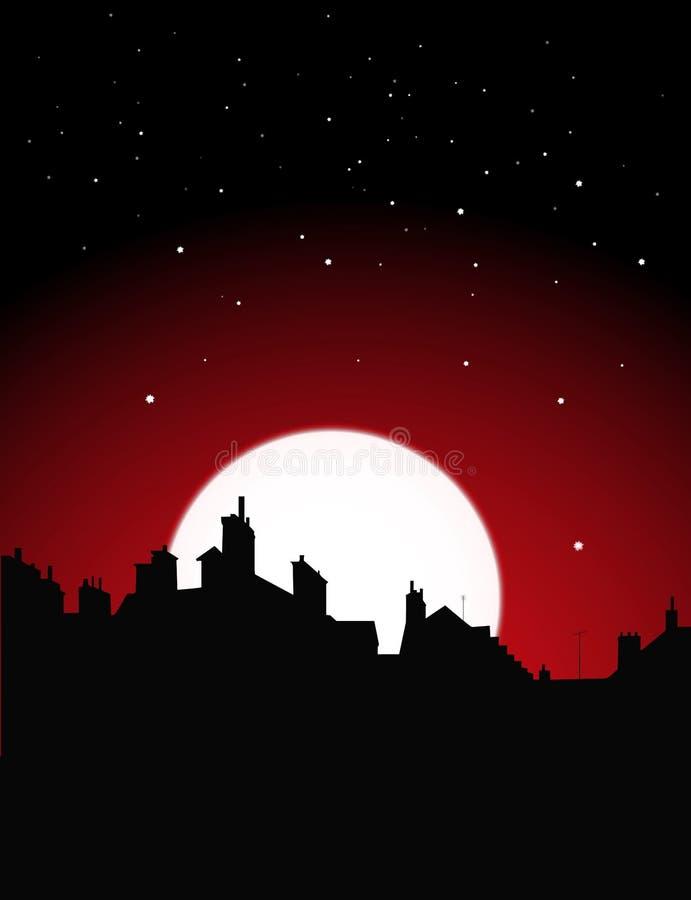 Opinión de la noche ilustración del vector