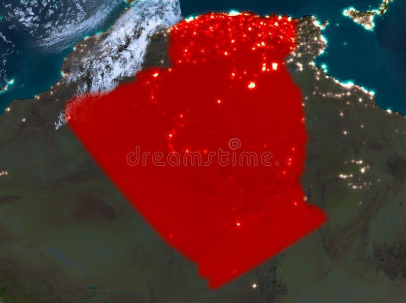 Opinión de la noche de Argelia stock de ilustración